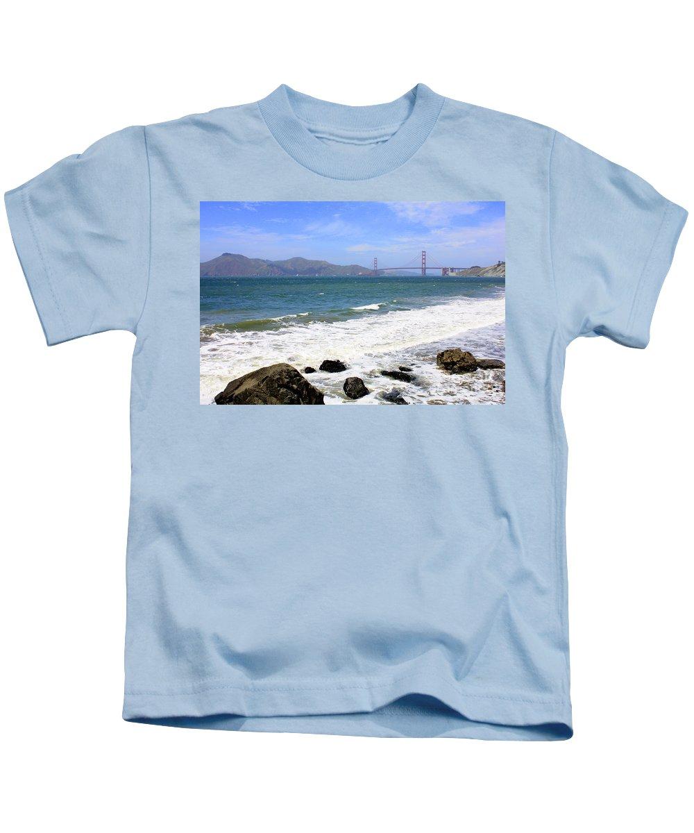 San Francisco Kids T-Shirt featuring the photograph Rocky China Beach by Carol Groenen