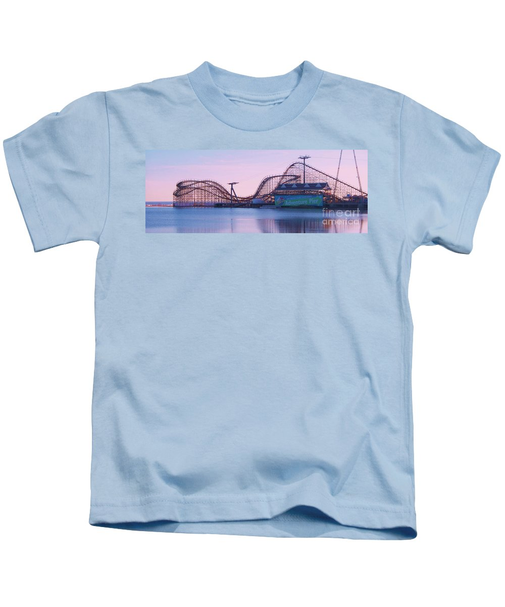 Roller Coaster Kids T-Shirt featuring the painting Roller Coaster by Eric Schiabor