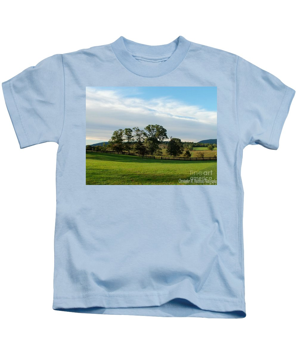 Sunlight Kids T-Shirt featuring the photograph Rolling Hills Near Marriot Ranch by Christopher Westbrook
