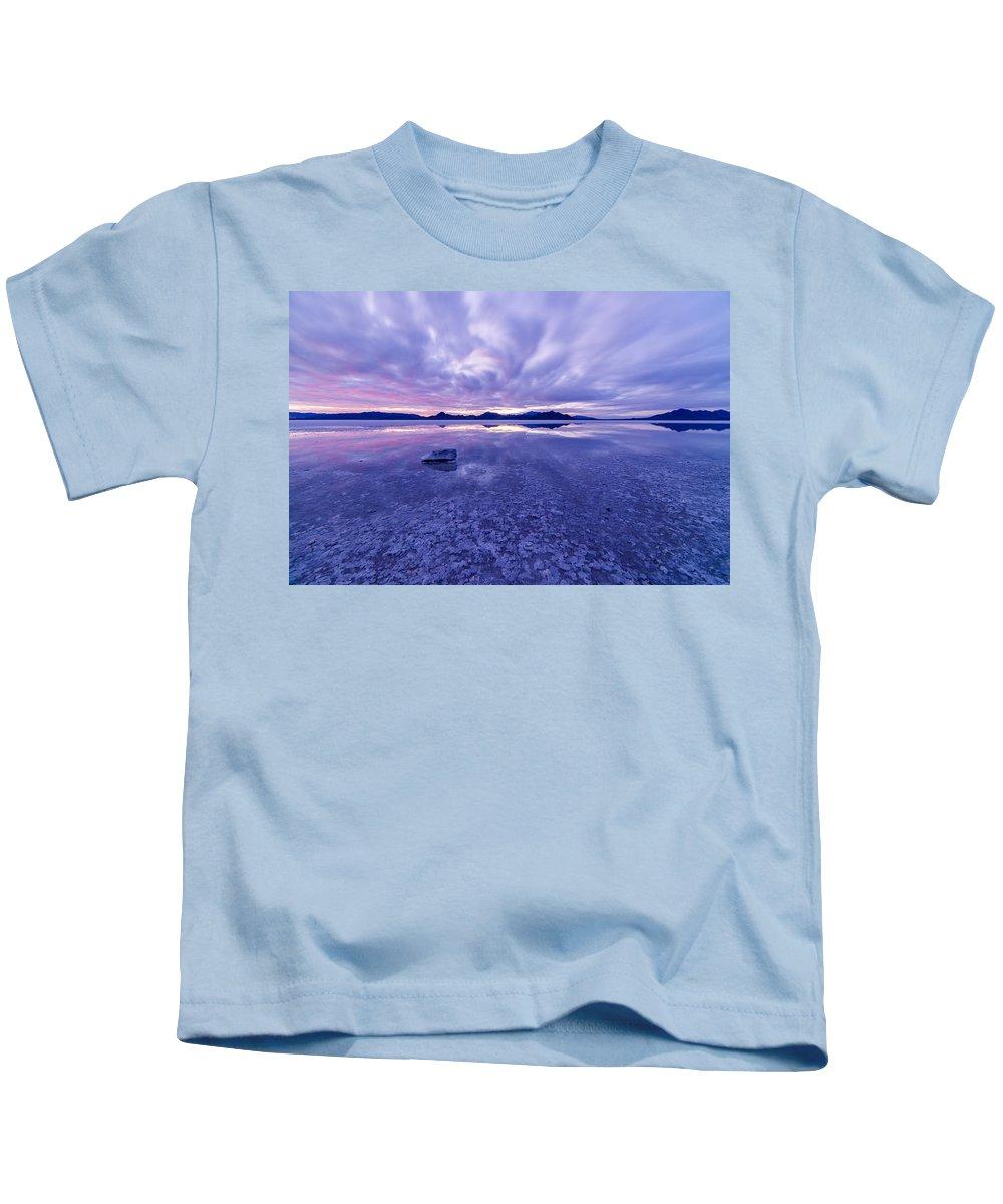 Utah Kids T-Shirt featuring the photograph Salt Flats After Dark by Dustin LeFevre