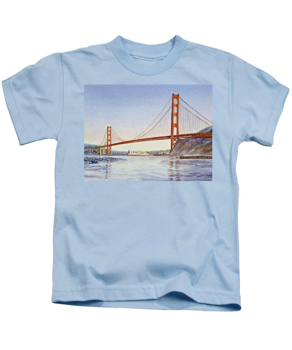 San Francisco California Tee T-shirt Golden Gate Bridge