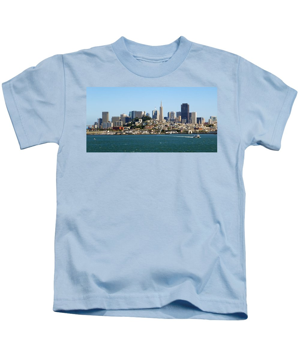 San Francisco Kids T-Shirt featuring the photograph San Francisco Skyline by Kelley King