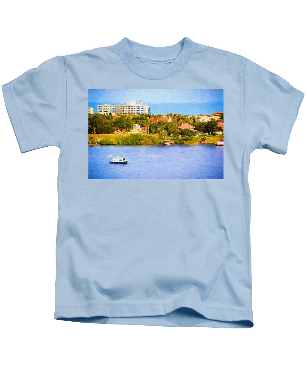 Holly Hill Waterscape Kids T-Shirt featuring the photograph Scenes On The Water by Alice Gipson