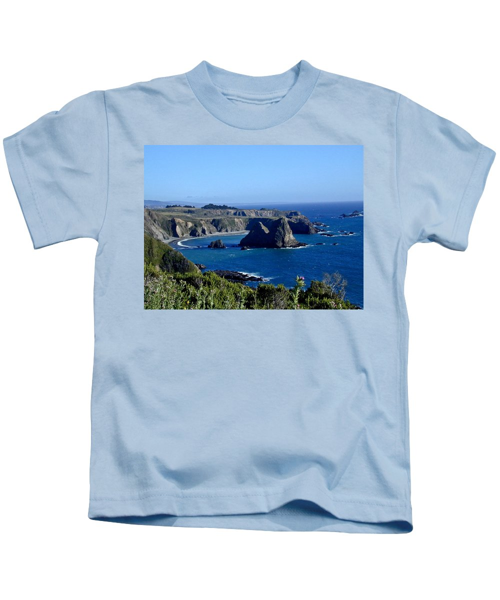Sea Kids T-Shirt featuring the photograph Sea Coast Of Northern California by Douglas Barnett