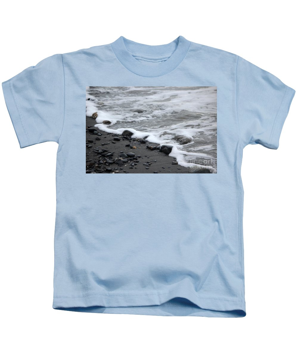 Beach Kids T-Shirt featuring the photograph Sea Foam by Stacey May