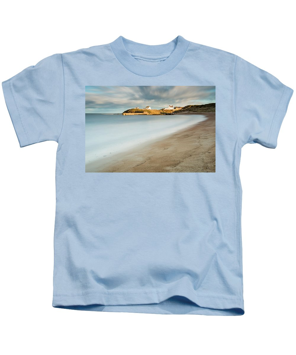 Northumberland Kids T-Shirt featuring the photograph Seaton Sluice In Smooth Water by David Head