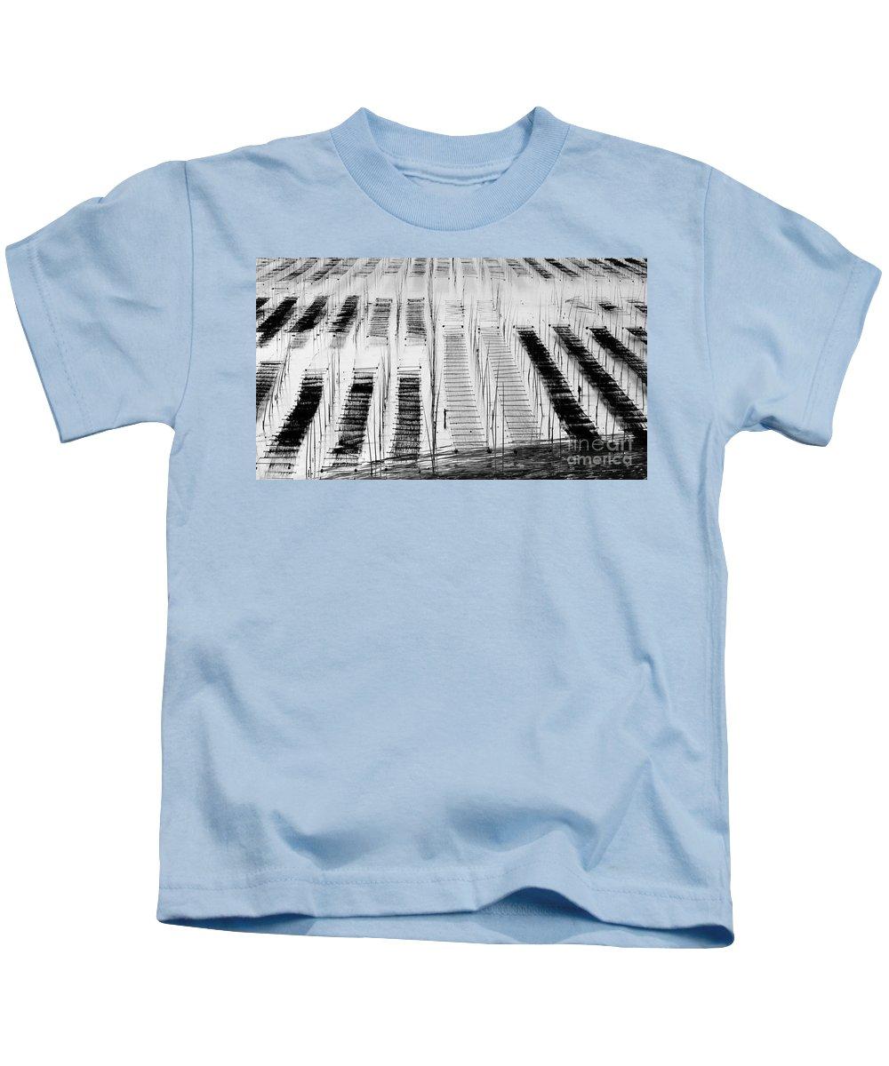 Seaweed Kids T-Shirt featuring the photograph Seaweed Farm by Kim Pin Tan