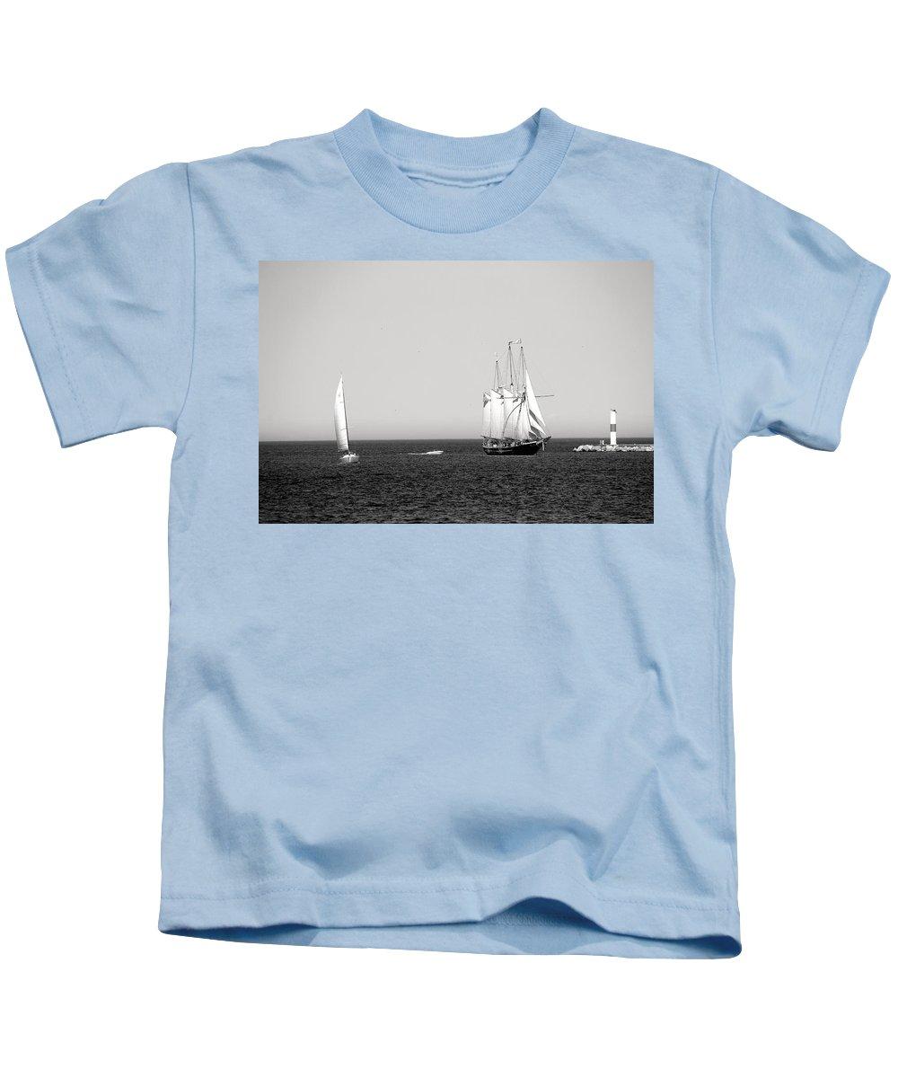 S/v Dennis Sullivan Kids T-Shirt featuring the photograph Serene by Debbie Nobile