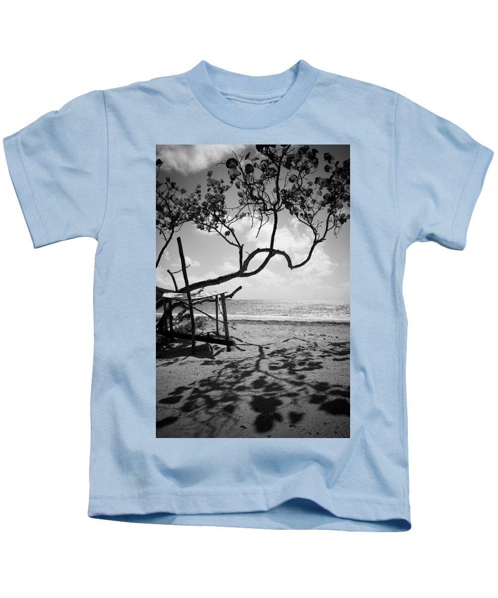 Saint Lucia Kids T-Shirt featuring the photograph Shadow Tree Cas En Bas by Ferry Zievinger