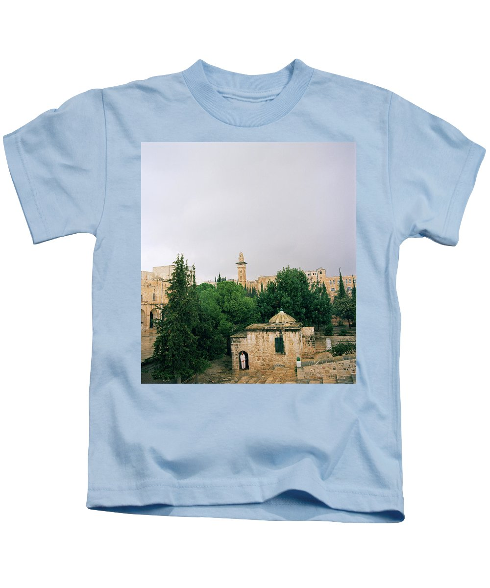Jerusalem Kids T-Shirt featuring the photograph Historic Jerusalem by Shaun Higson