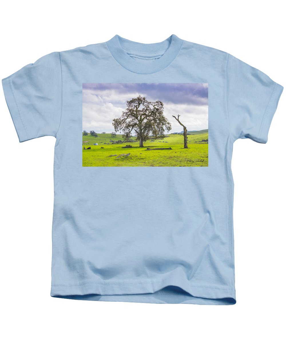 Landscape Kids T-Shirt featuring the photograph Sierra Foothills And Clouds by Doug Holck