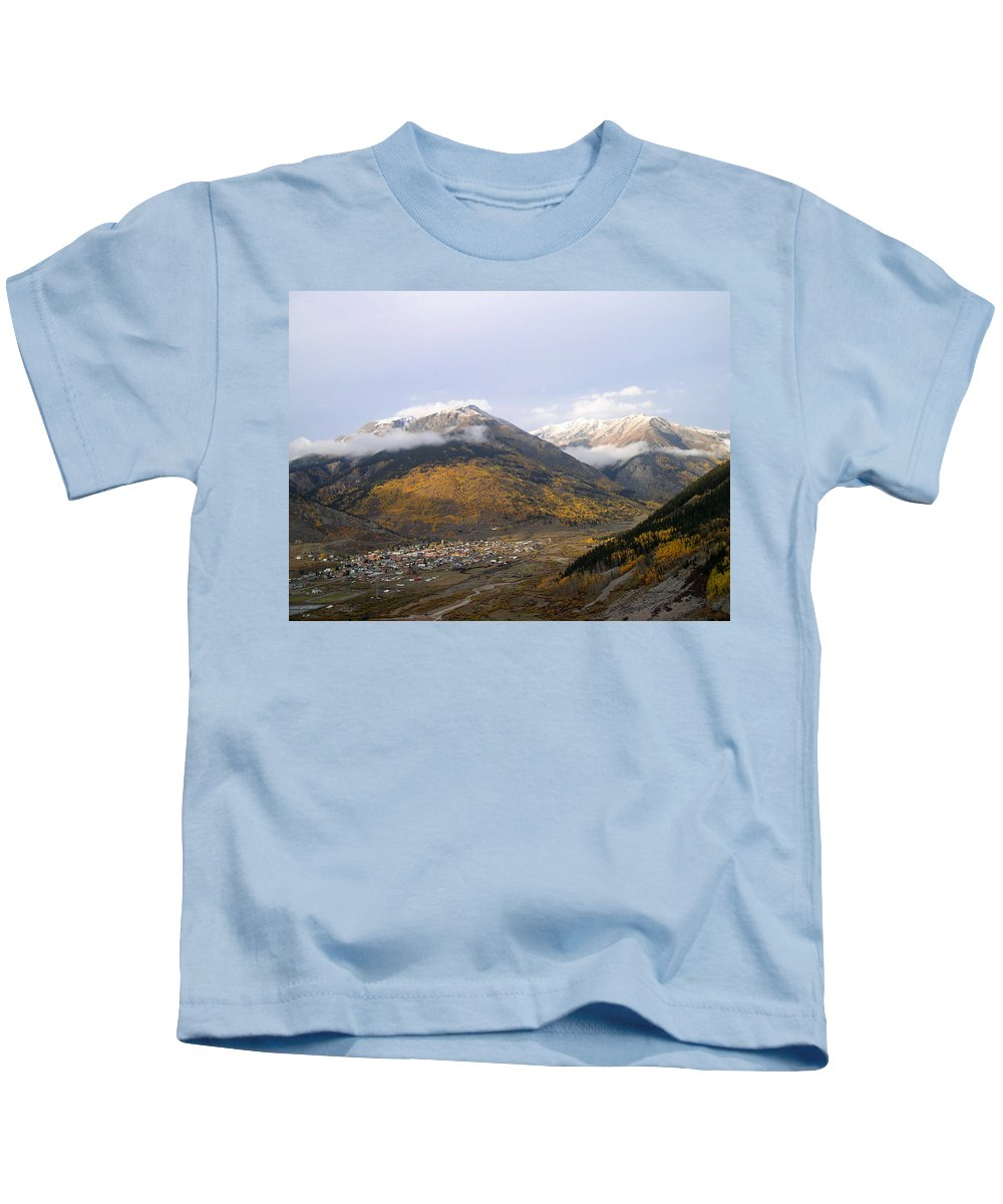Colorado Kids T-Shirt featuring the photograph Silverton Colorado by Gary Emilio Cavalieri