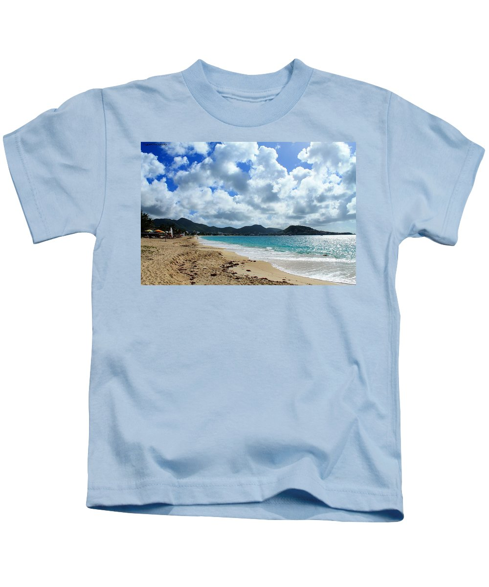 Simpson Bay Kids T-Shirt featuring the photograph Simpson Bay by James Markey