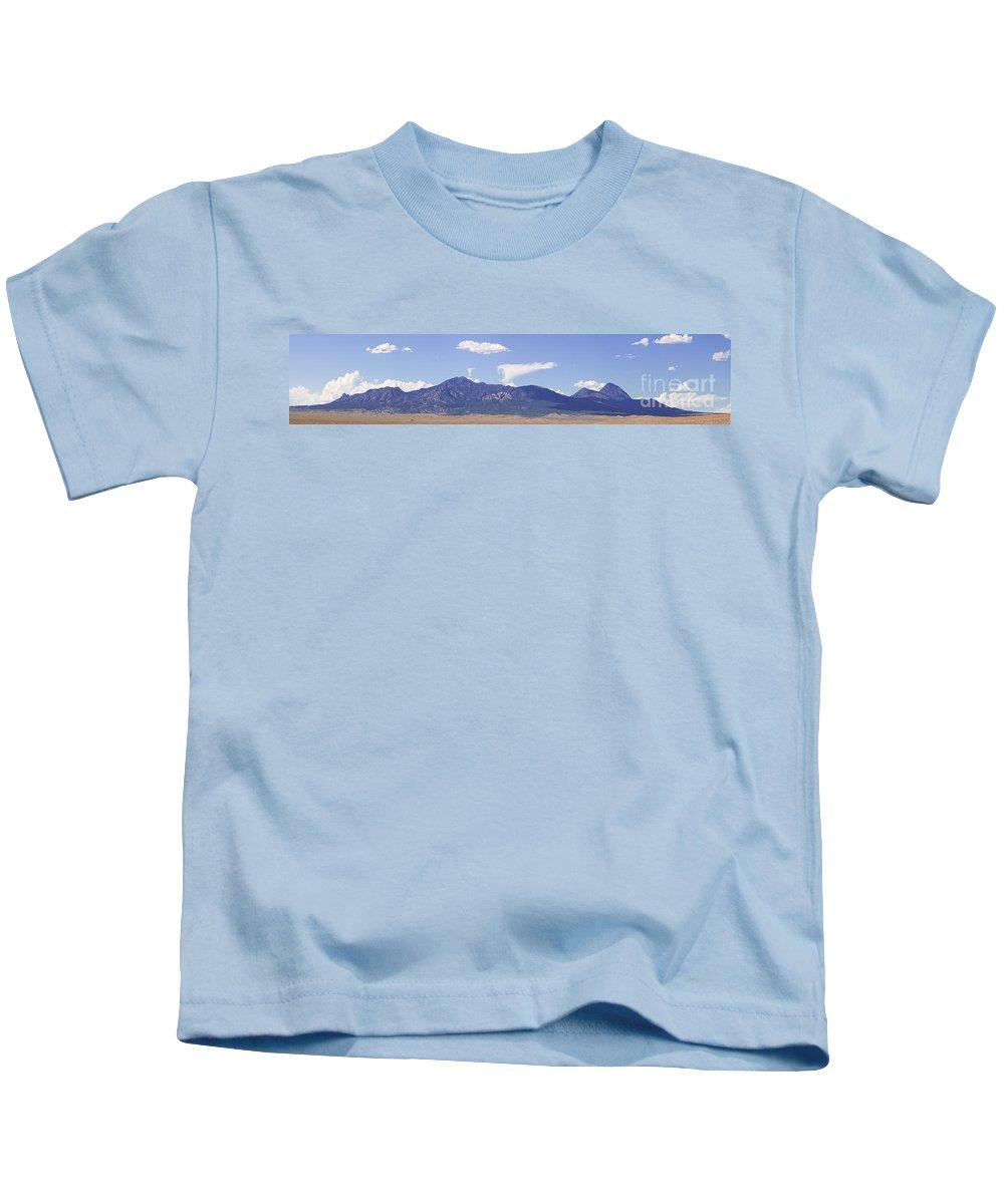 Colorado Kids T-Shirt featuring the photograph Sleeping Ute Panorama by Janice Rae Pariza