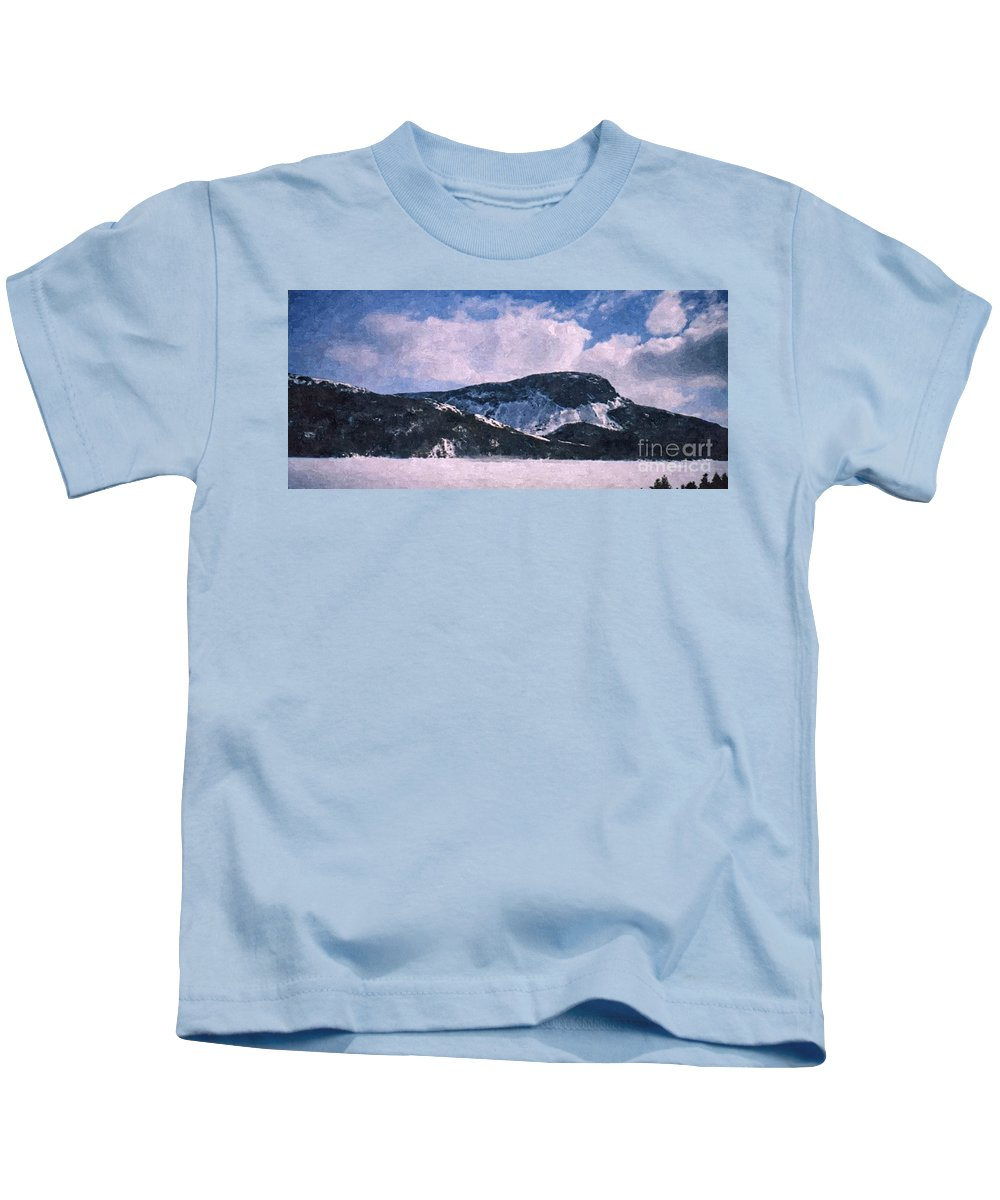 Snow Clouds Kids T-Shirt featuring the photograph Snow Clouds - Winter - Ice by Barbara Griffin