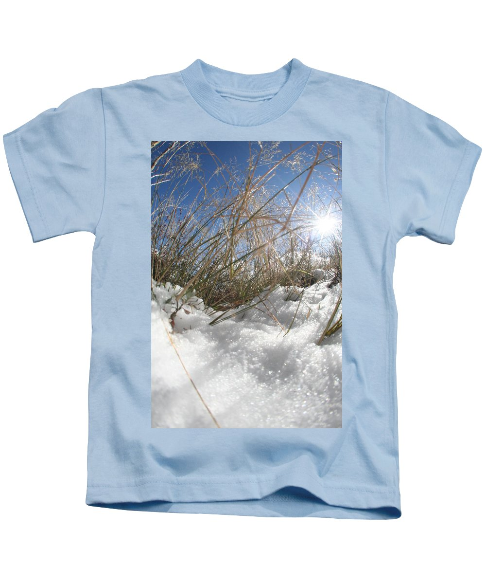 Snow Kids T-Shirt featuring the photograph Snow Grass by David S Reynolds