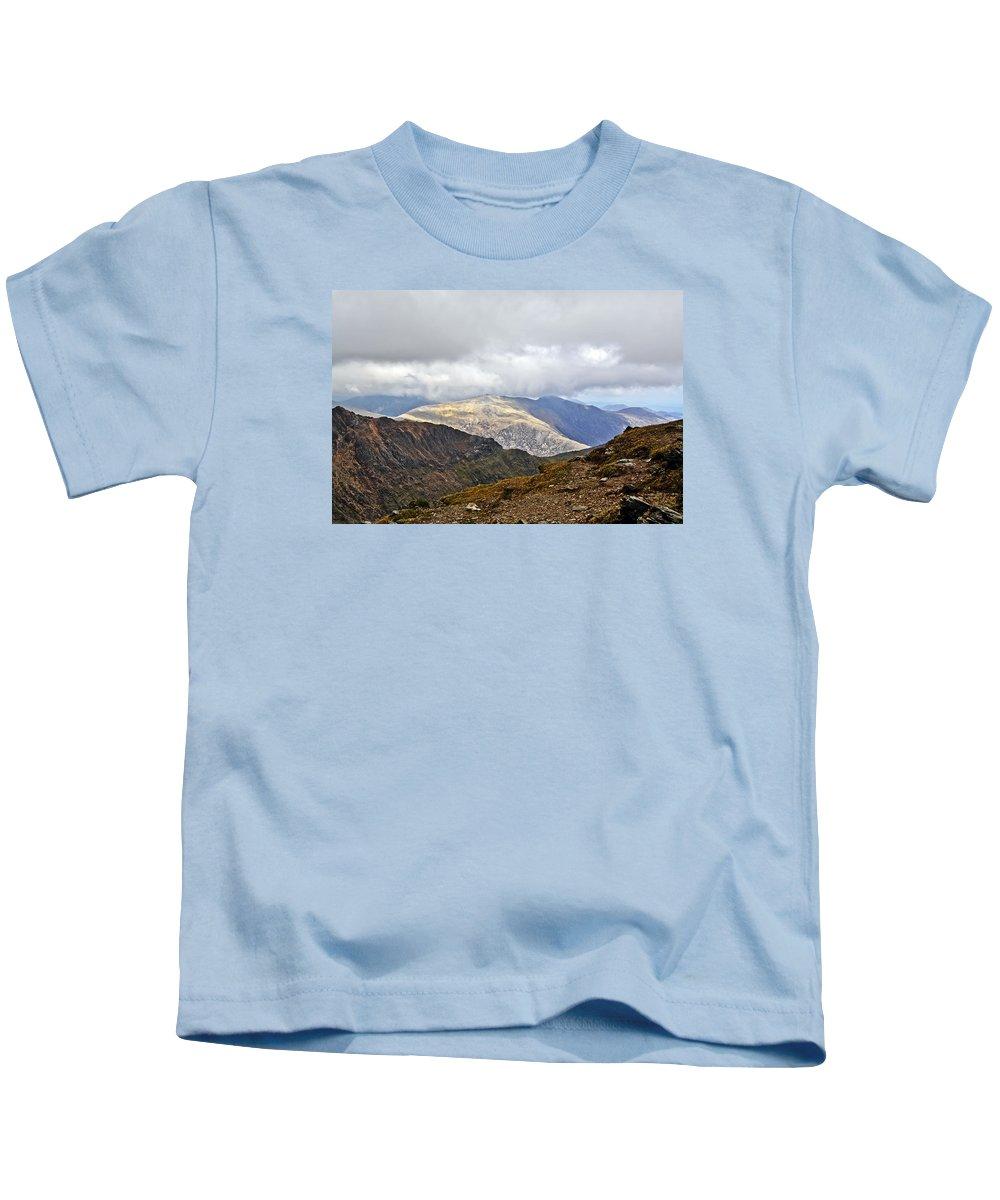 Travel Kids T-Shirt featuring the photograph Snowdonian Splendor by Elvis Vaughn