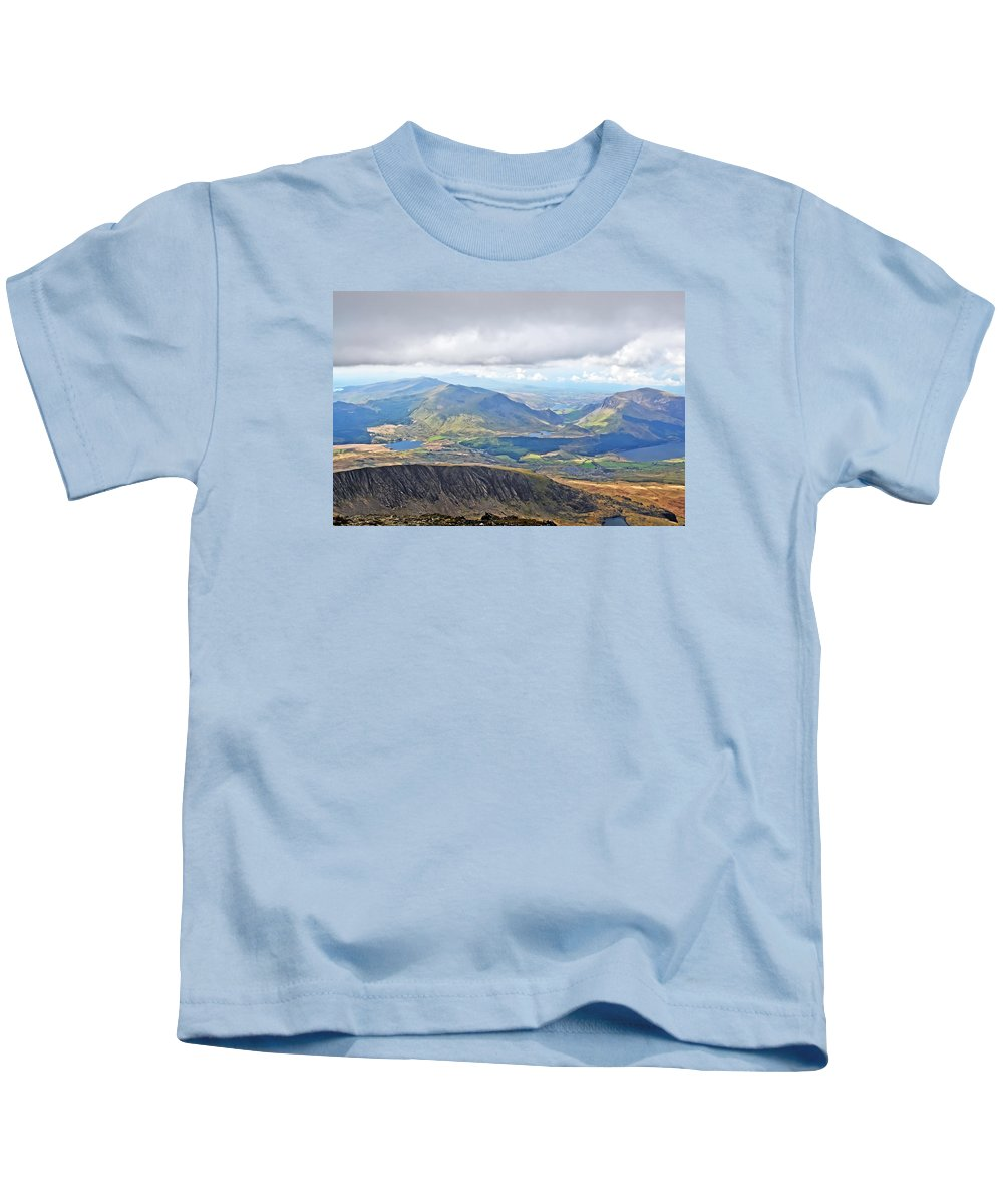 Travel Kids T-Shirt featuring the photograph Snowdonian Thunderstorm by Elvis Vaughn