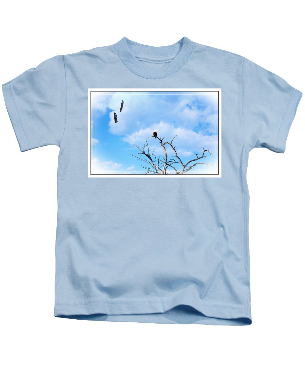 Soar Kids T-Shirt featuring the photograph Soar by Bob Hislop
