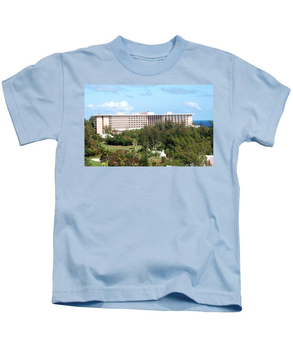 Hotel Kids T-Shirt featuring the photograph Southhampton Princess Bermuda by Ian MacDonald
