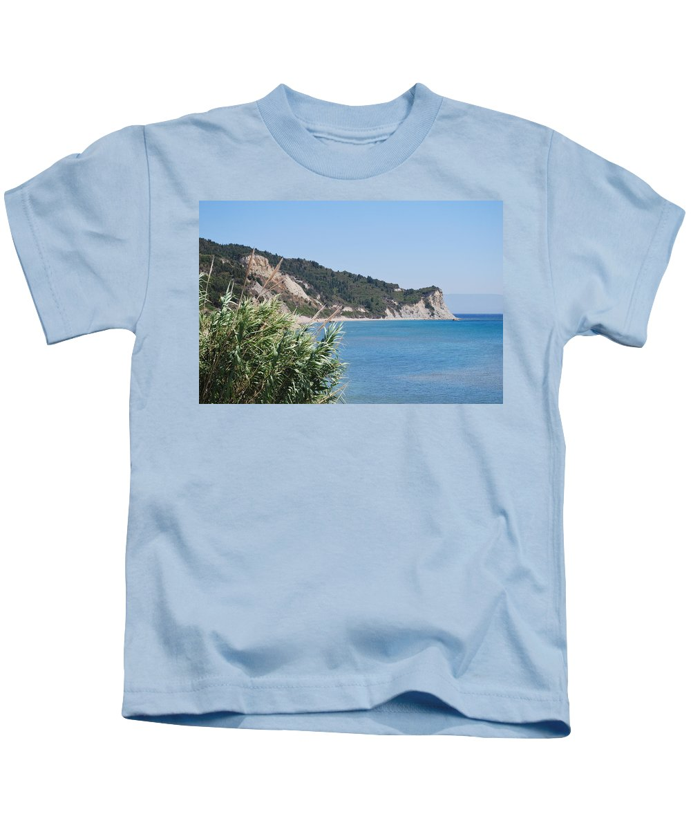 Greek Islands Kids T-Shirt featuring the photograph Stamoleka 2 by George Katechis
