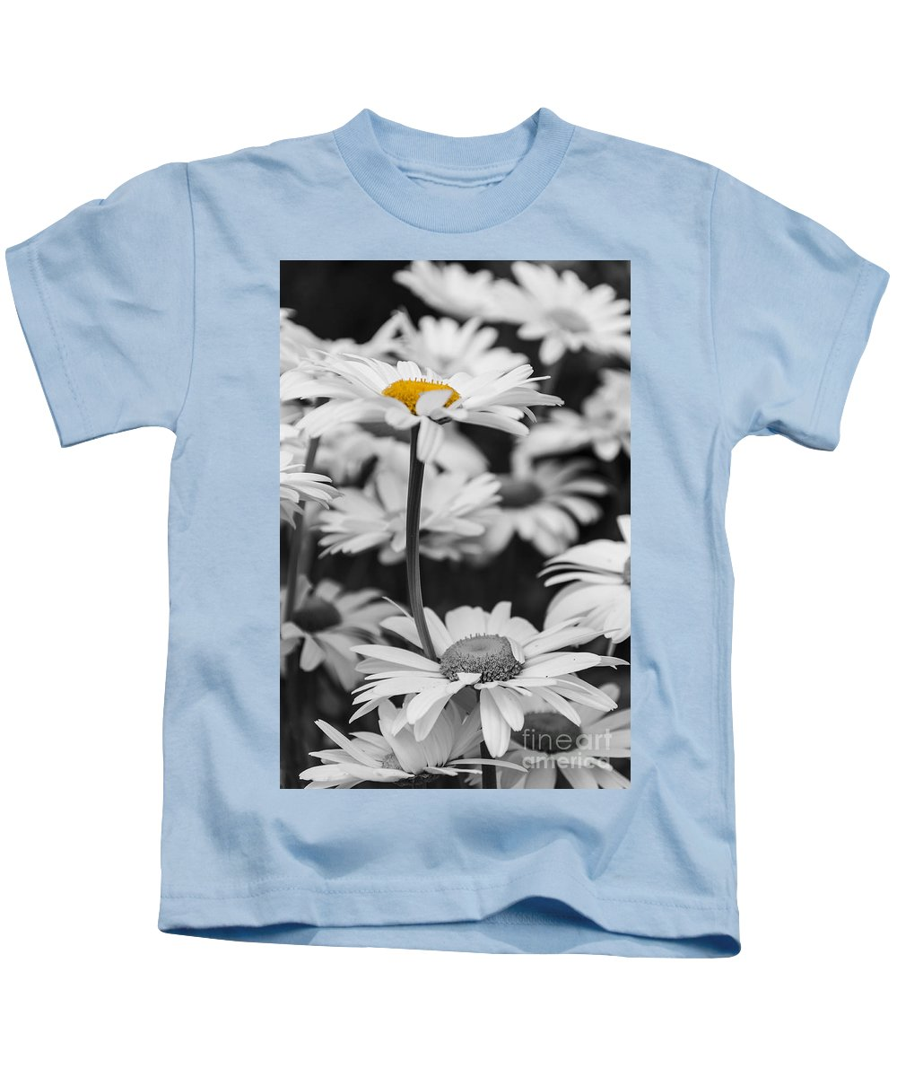 Oxeye Daisy Kids T-Shirt featuring the photograph Standing Out From The Crowd 2 by Steve Purnell