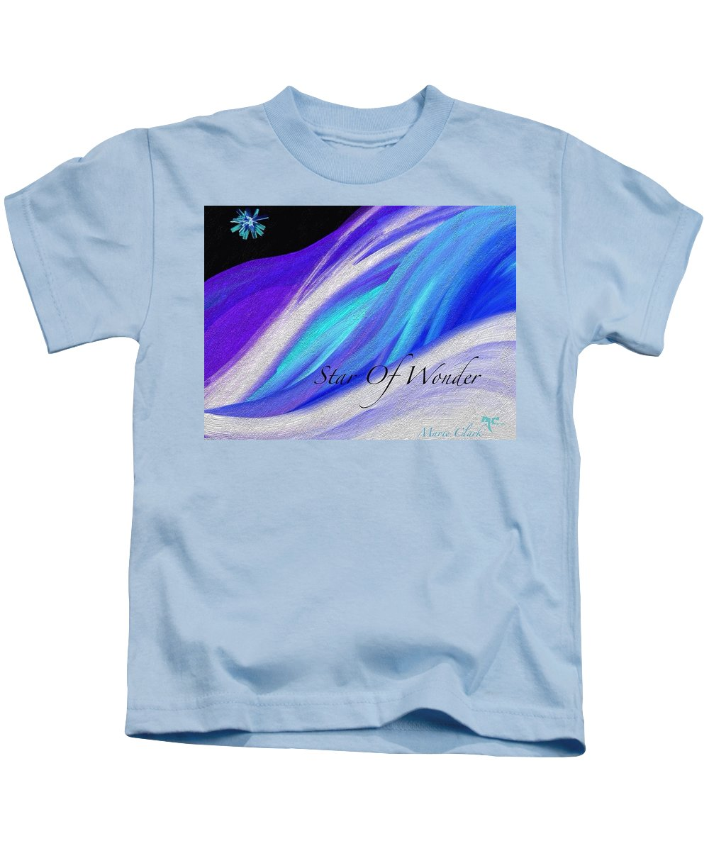 Christmas Kids T-Shirt featuring the painting Star Of Wonder by Marie Clark