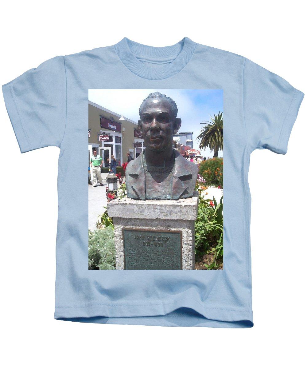 Steinbeck Kids T-Shirt featuring the digital art Steinbeck Or Bust by Pharris Art