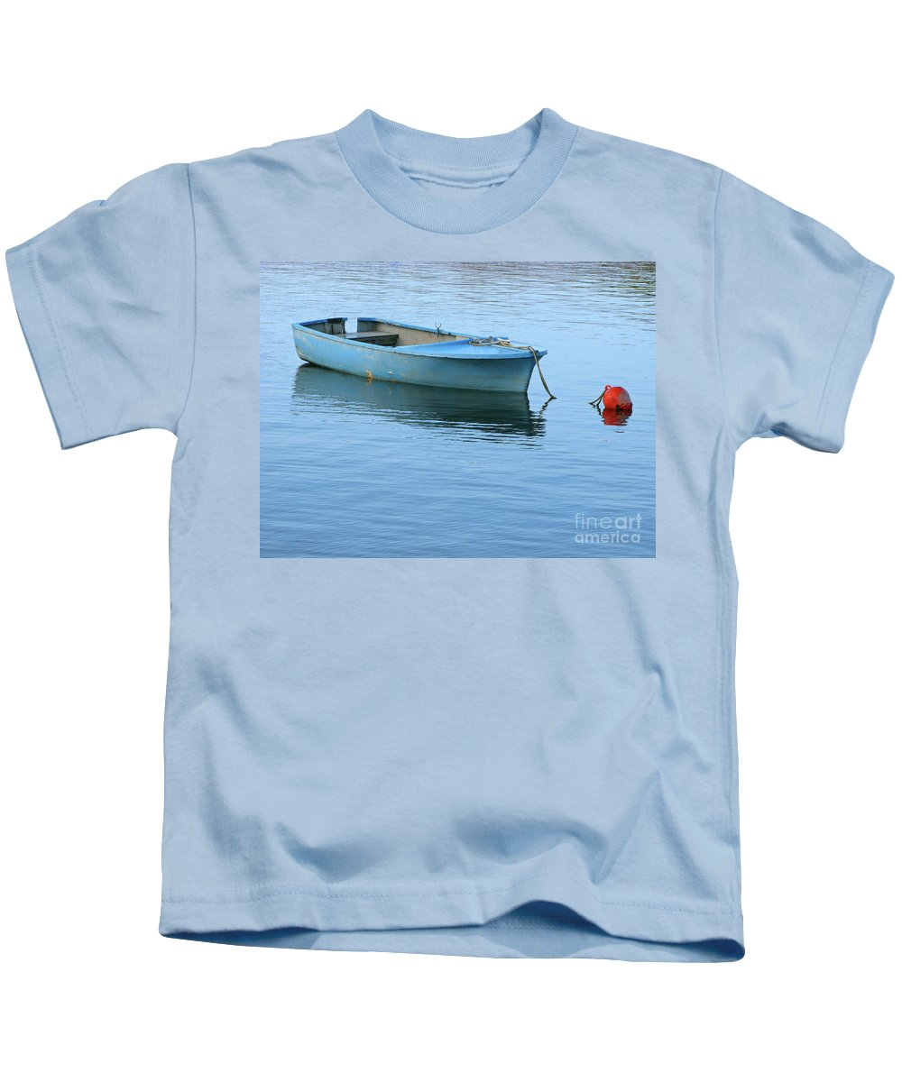 Rowboat Kids T-Shirt featuring the photograph Still Afloat by Ann Horn