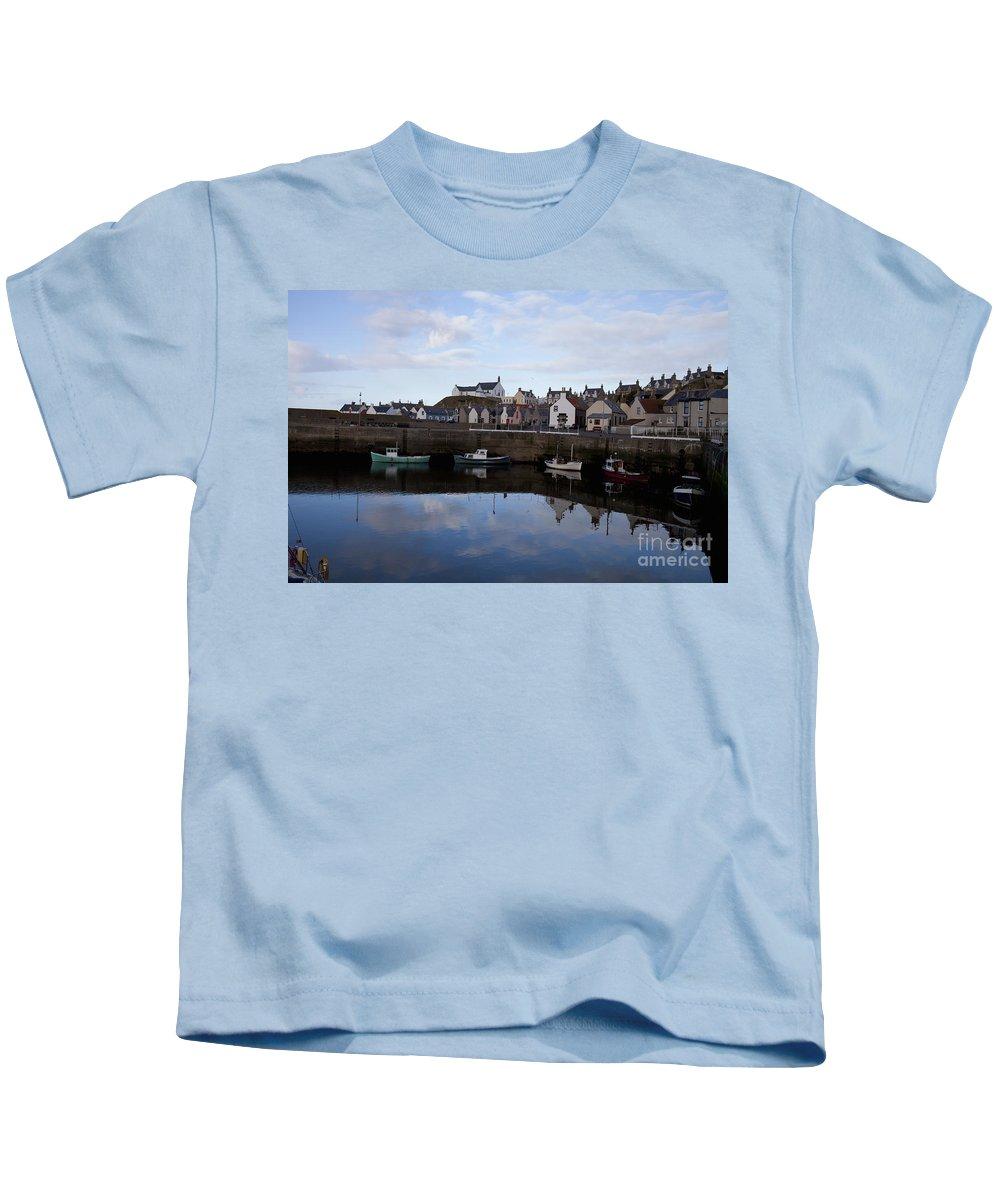 Architecture Kids T-Shirt featuring the photograph Still Waters by Diane Macdonald