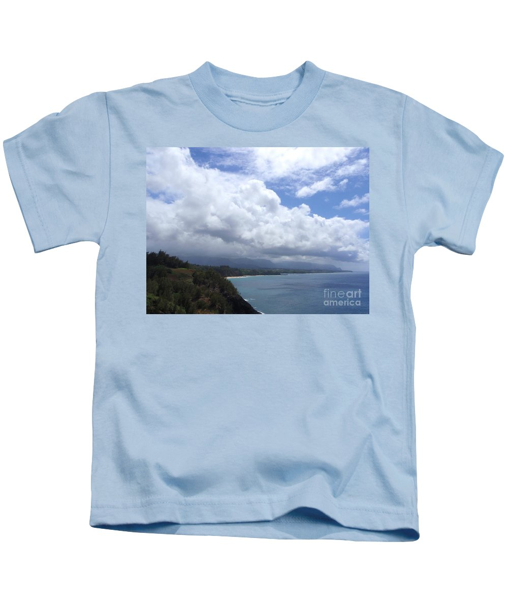 Bali Hai Kids T-Shirt featuring the photograph Storm Over Bali Hai by Mary Deal