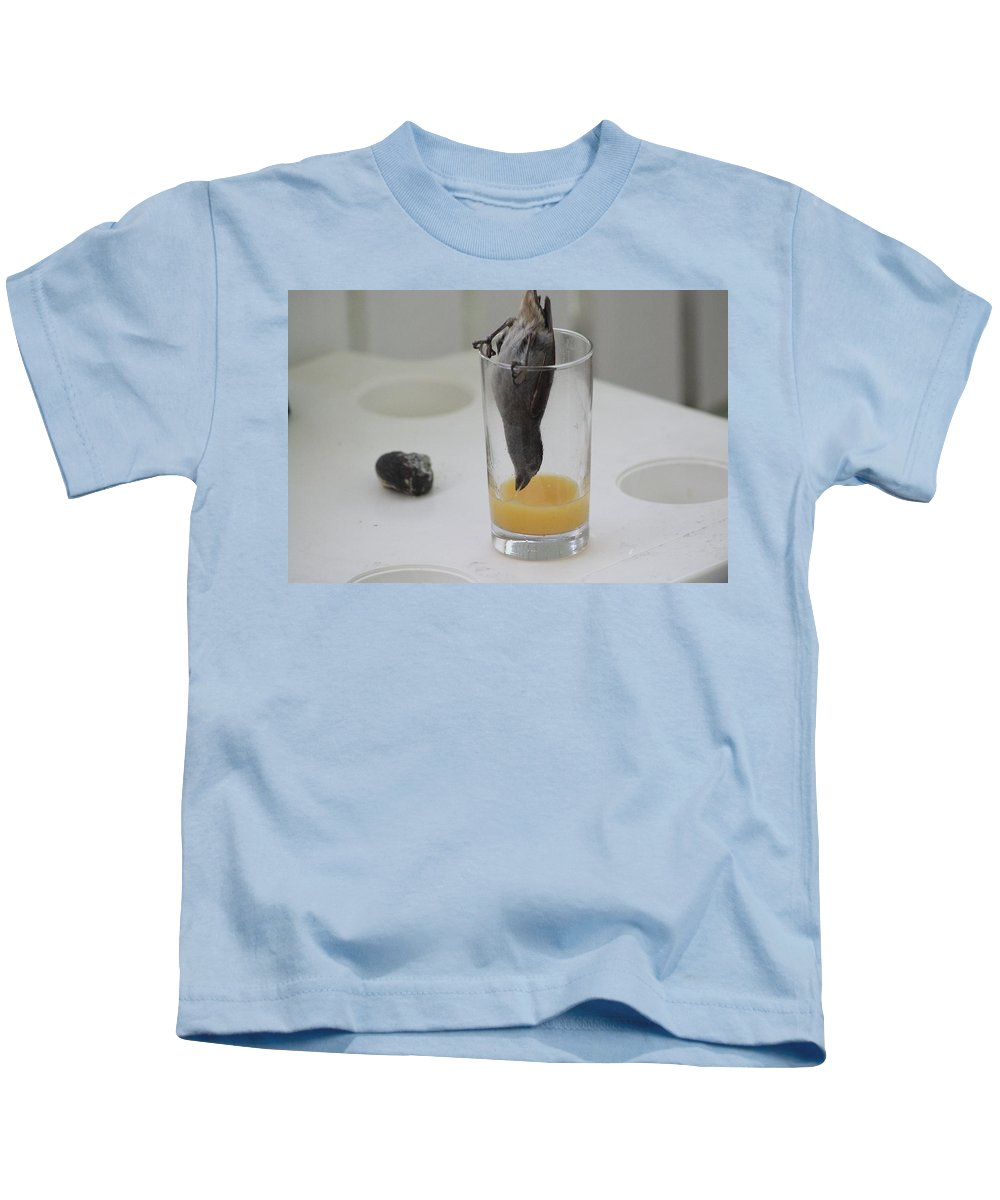 Orange Juice Kids T-Shirt featuring the photograph Streaming Oj by Catie Canetti