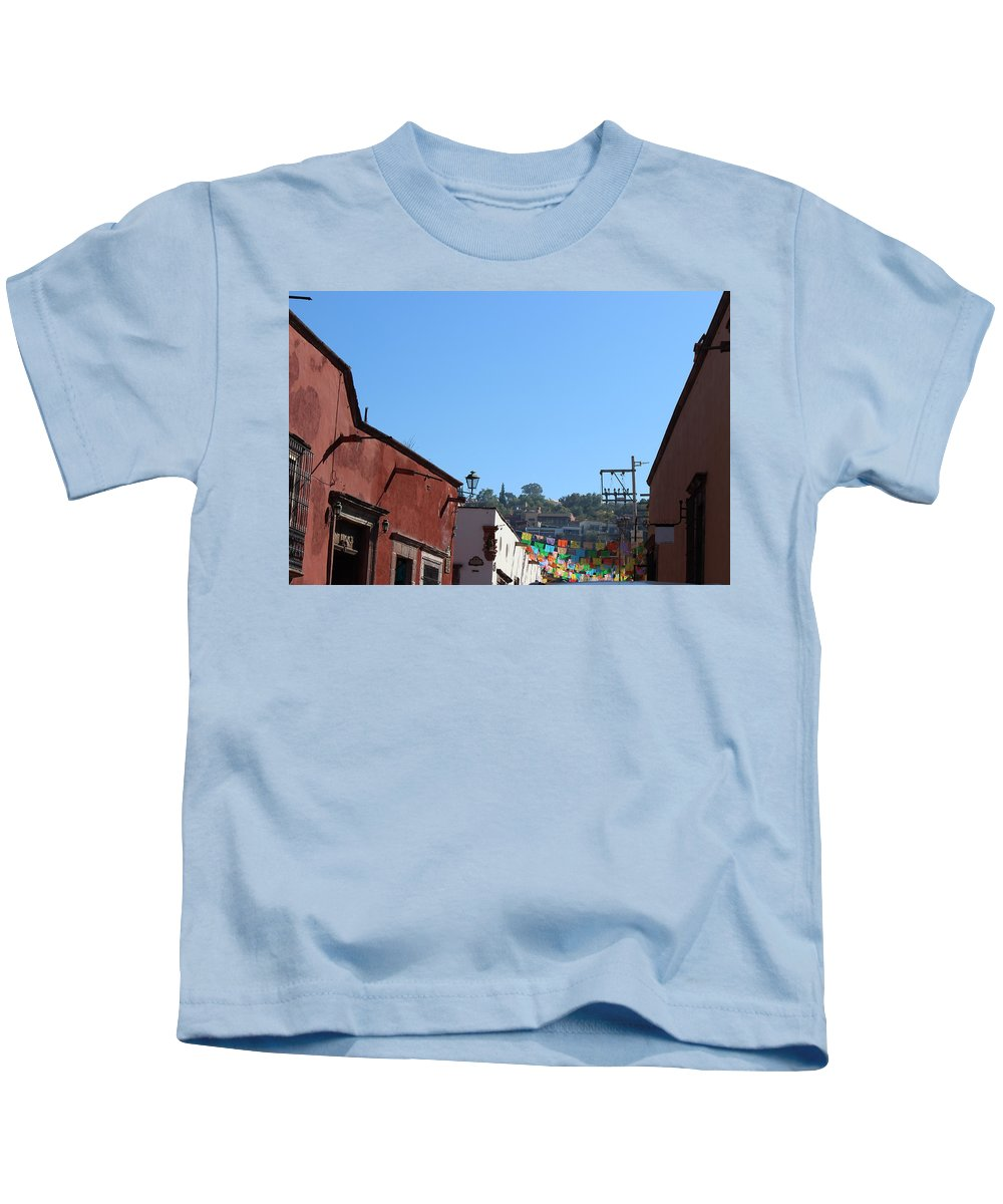 Streets Kids T-Shirt featuring the photograph Streets Of San Miguel De Allende 2 by Cathy Anderson