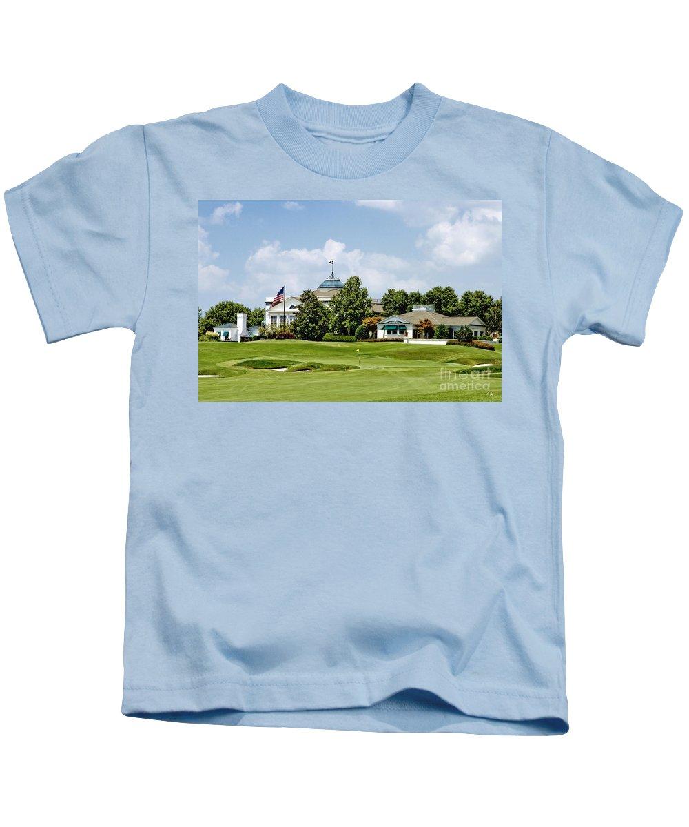 Golf Kids T-Shirt featuring the photograph Sucker Pin by Scott Pellegrin