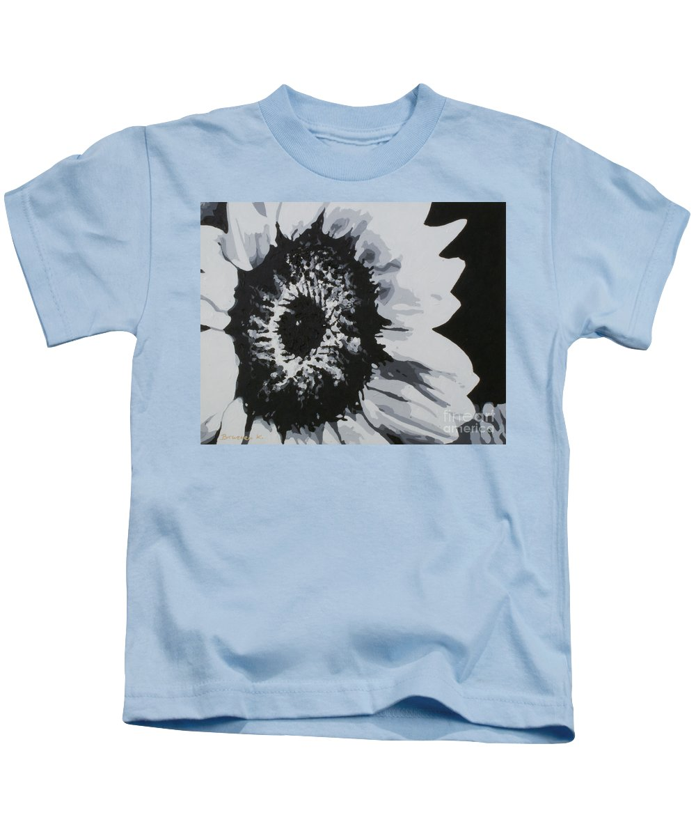 Sunflower Kids T-Shirt featuring the painting Sunflower by Katharina Filus
