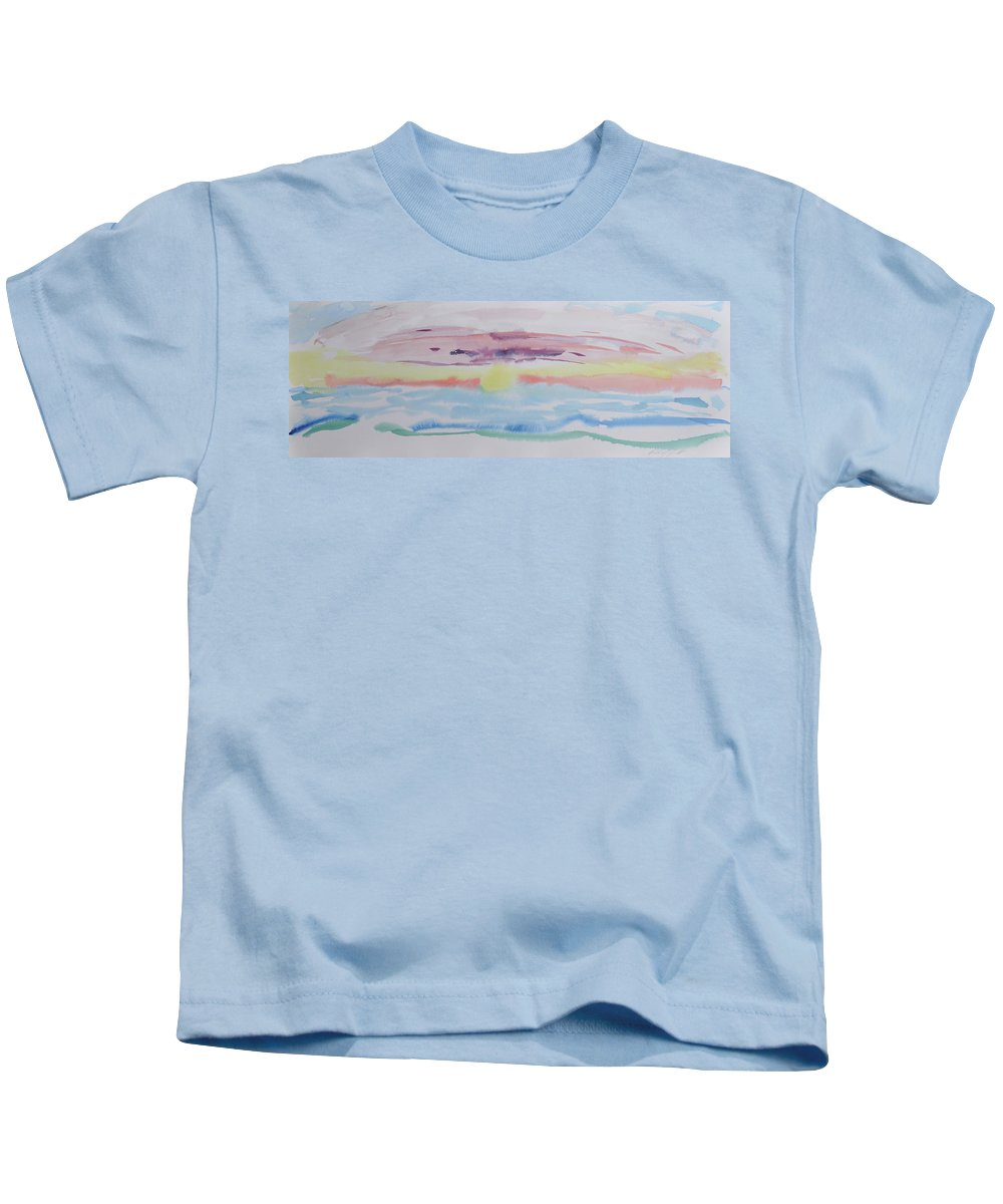 Nature Kids T-Shirt featuring the painting Sunrise by Kimberly Maxwell Grantier