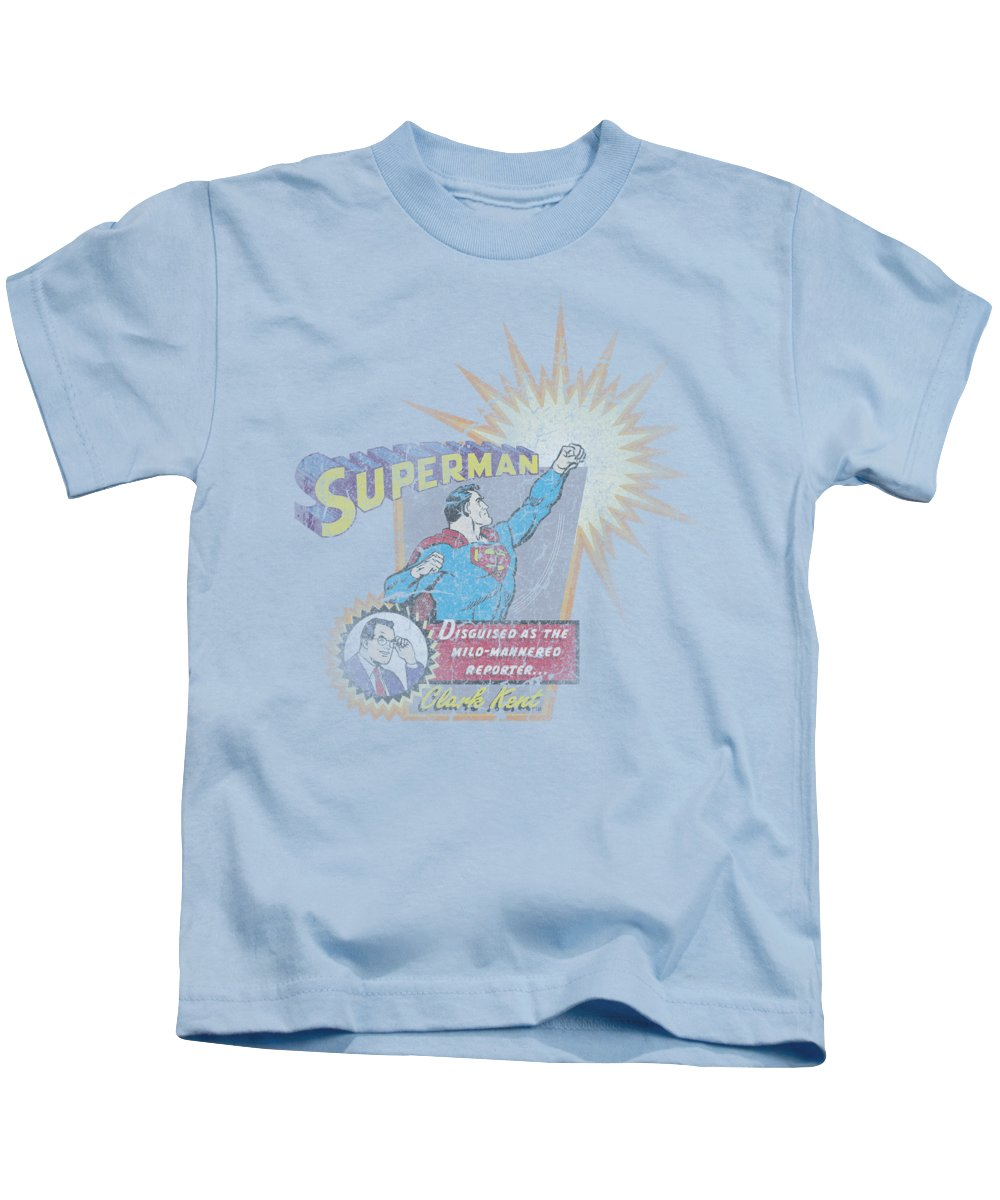 Superman Kids T-Shirt featuring the digital art Superman - Ingenious Disguise by Brand A