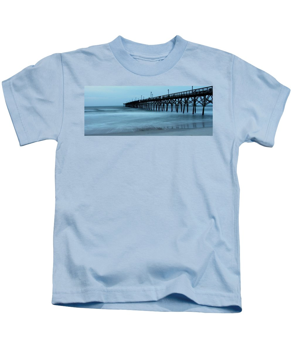 Kids T-Shirt featuring the photograph Surf City Pier Soft 2 by Rand Wall