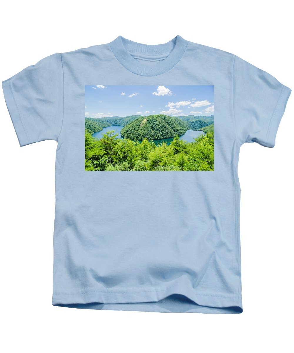 309 Kids T-Shirt featuring the photograph Tail Of The Dragon Scenic Road In Great Smoky Mountains by Alex Grichenko