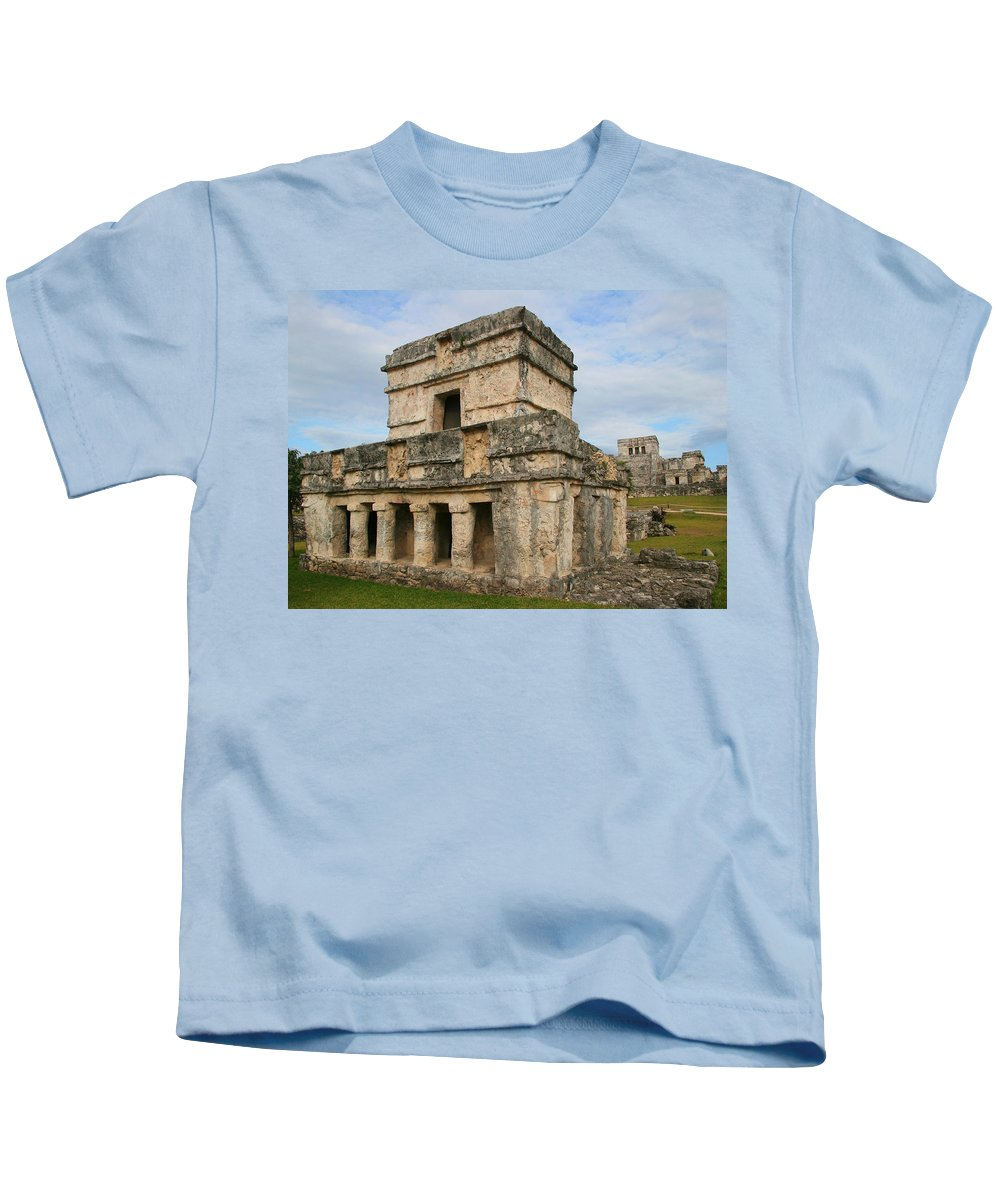 Temple Of The Frescoes Kids T-Shirt featuring the photograph Temple Of The Frescoes by Ellen Henneke