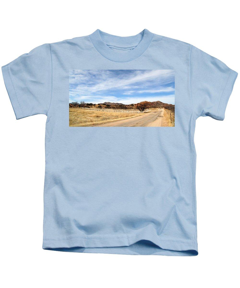 Texas Canyon Kids T-Shirt featuring the photograph Texas Canyon In February by Joe Kozlowski