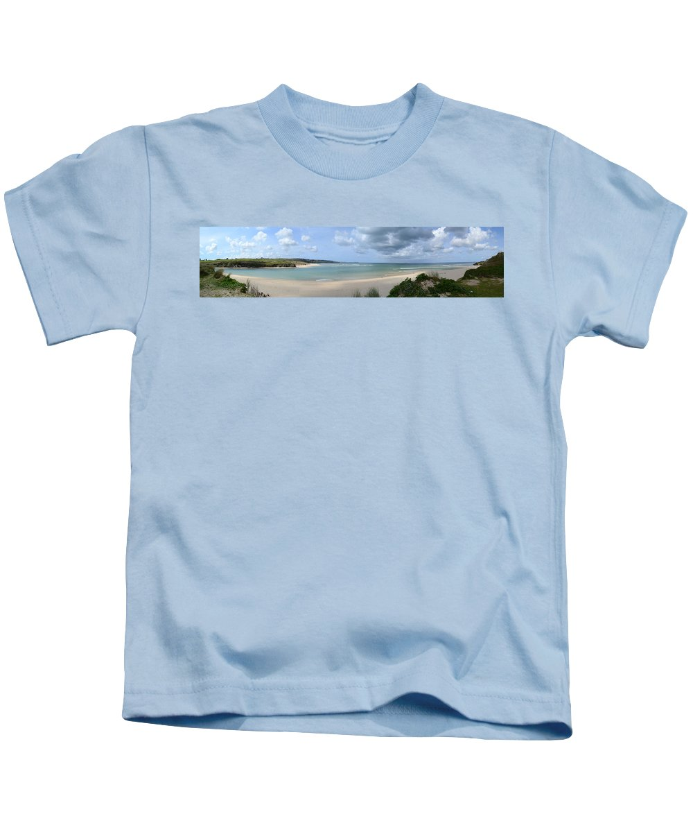 Bay Kids T-Shirt featuring the photograph The Bay At Hayle by Russell Sherwood