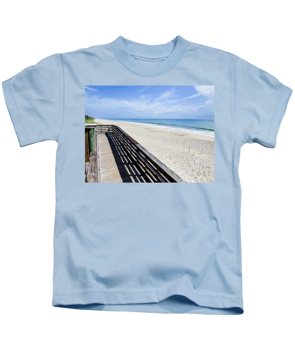 Beach Kids T-Shirt featuring the photograph The Beach II by Zina Stromberg