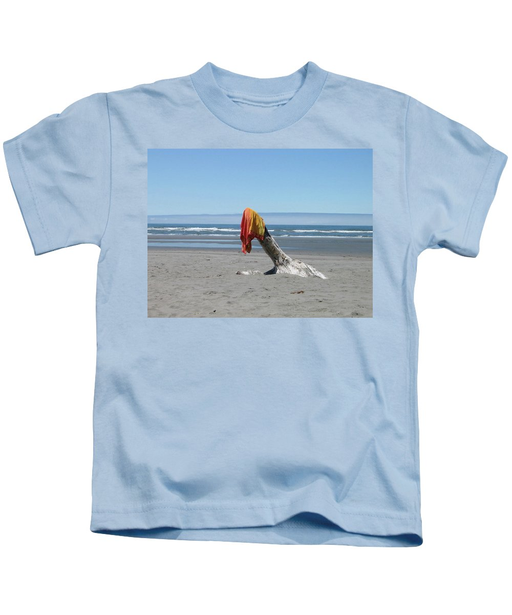 Ocean Kids T-Shirt featuring the photograph The Beach by Kimberly Maxwell Grantier