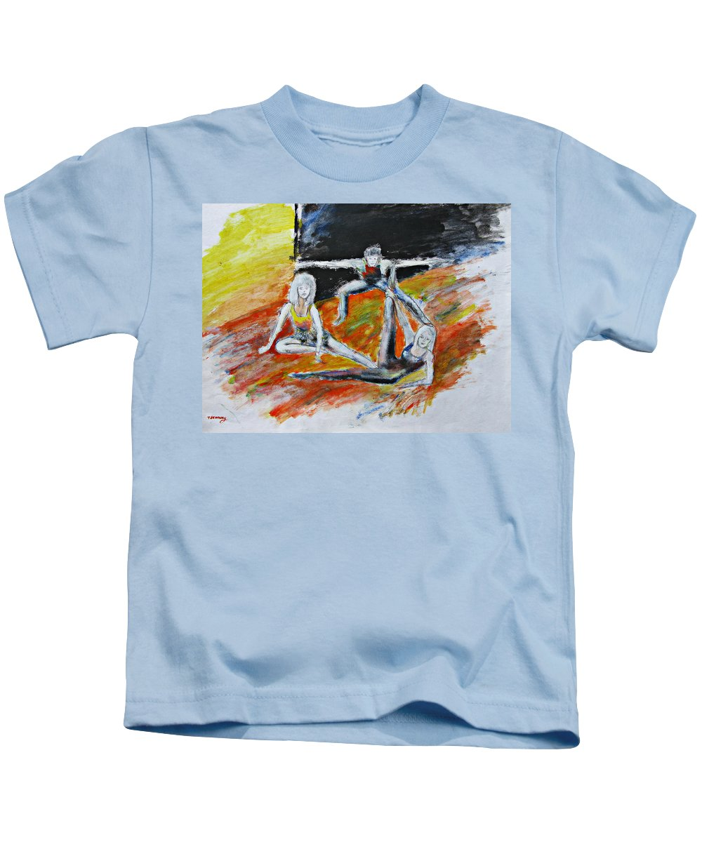 Dance Kids T-Shirt featuring the painting The Dance Audition by Tom Conway