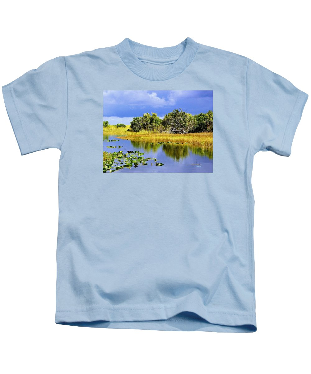 Landscape Kids T-Shirt featuring the photograph The Everglades by Barbara Zahno