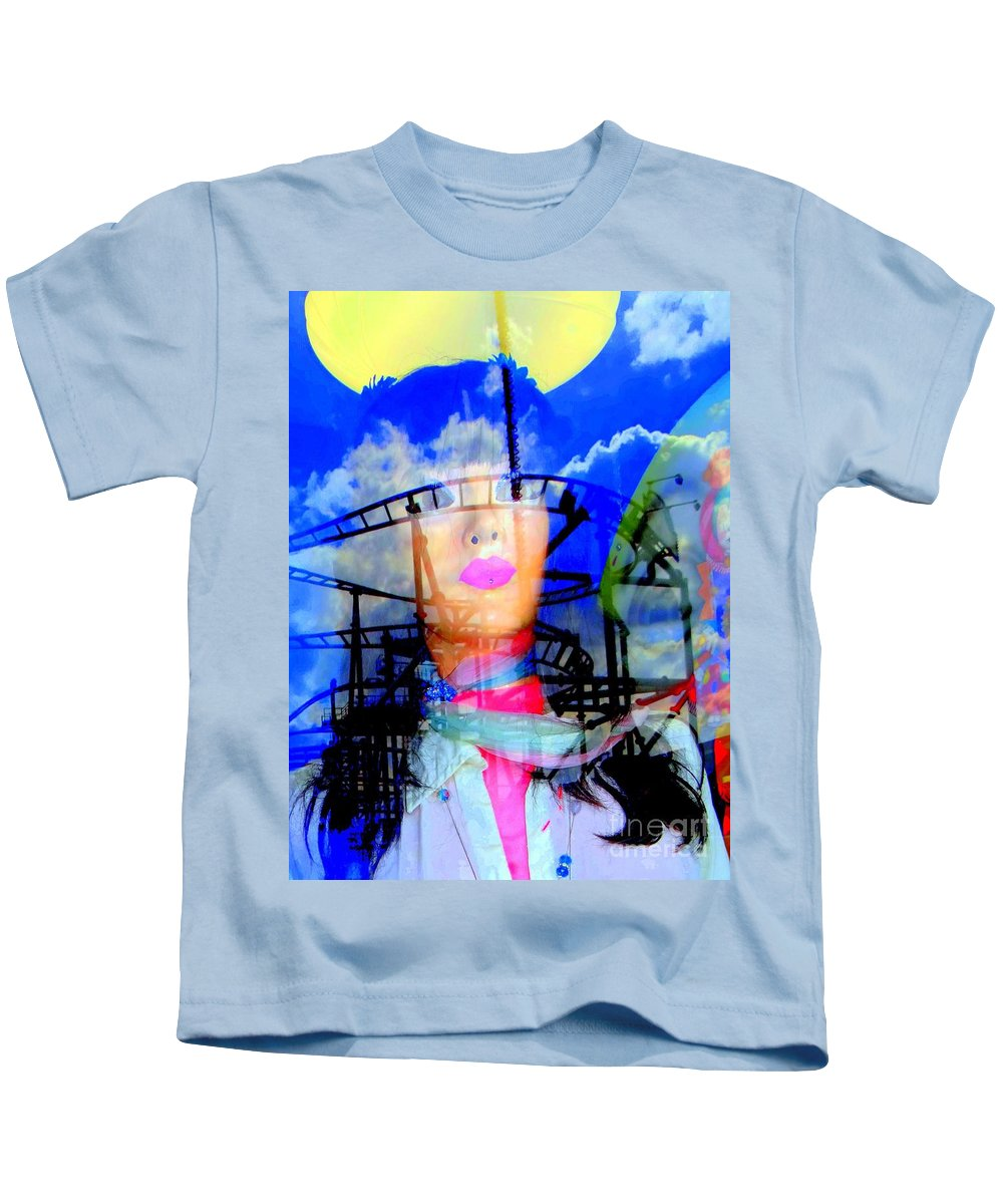 Mannequins Kids T-Shirt featuring the photograph The Eyes Of Miss Coney Island by Ed Weidman