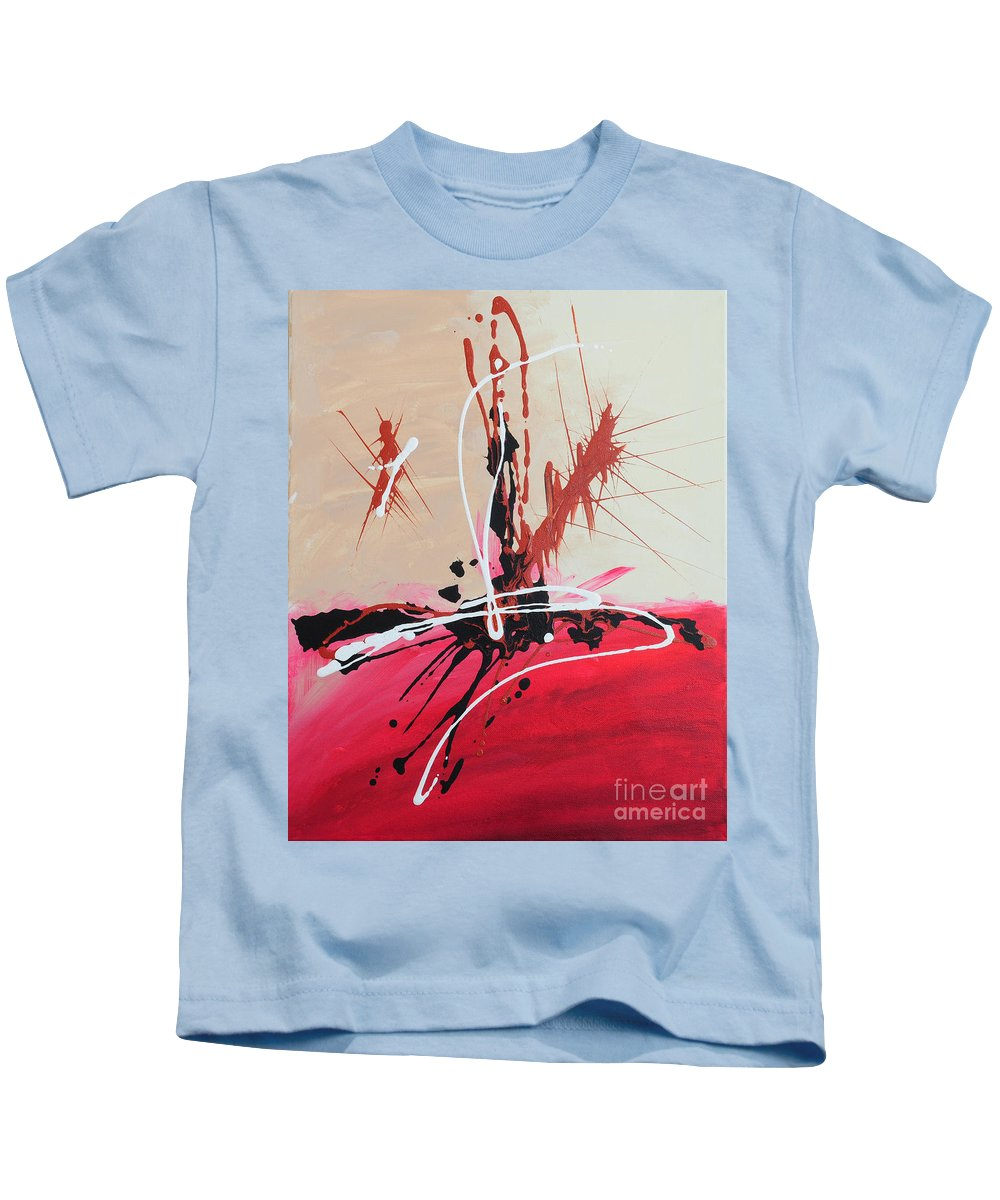 Acrylic Kids T-Shirt featuring the painting The Fire Within Coming Out by Paulette B Wright