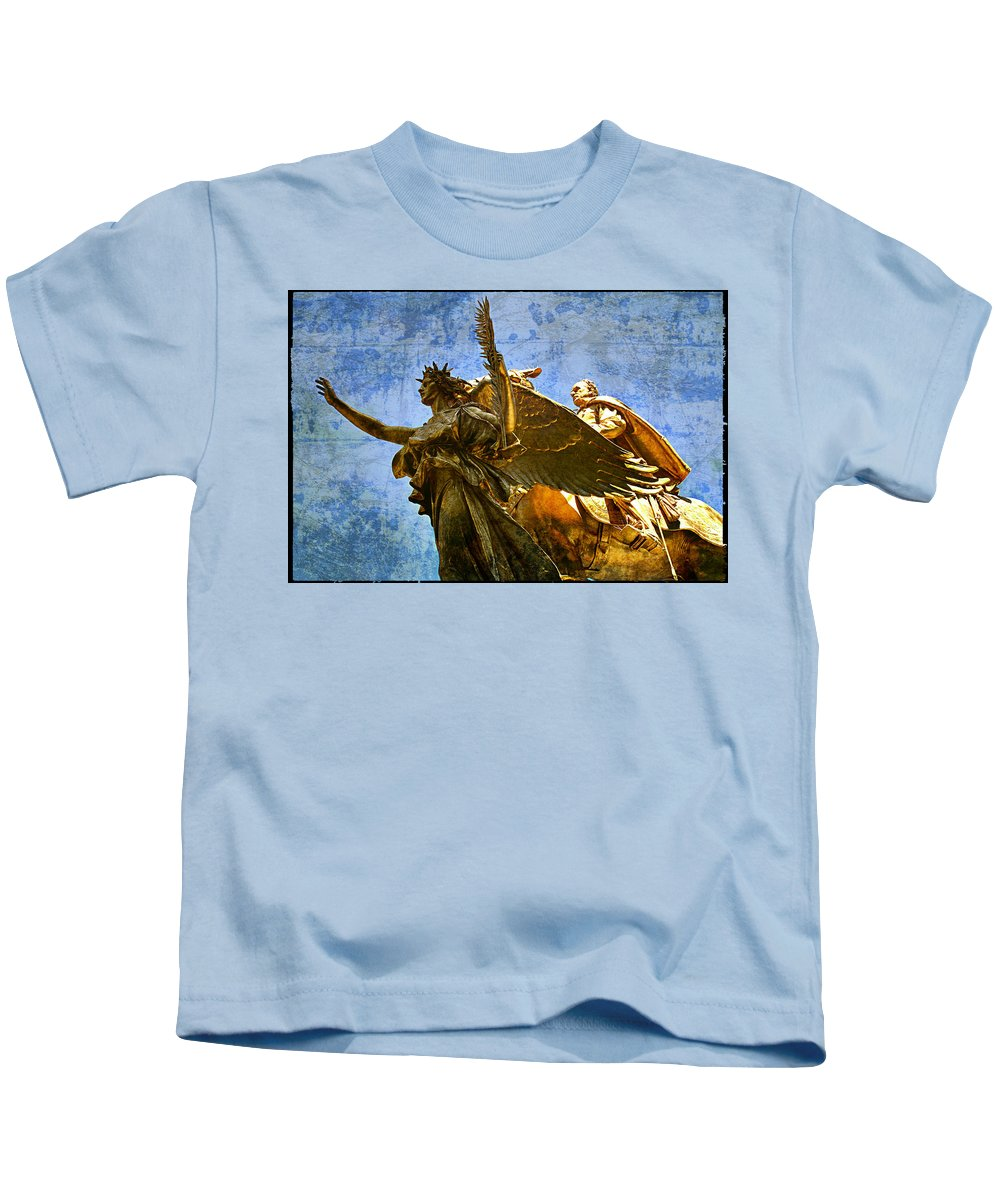 Angel Kids T-Shirt featuring the photograph The Generals Golden Angel by Alice Gipson