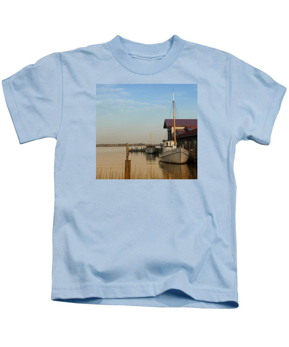 The Old Point - St Michaels Kids T-Shirt featuring the photograph The Old Point - St Michaels by Bill Cannon